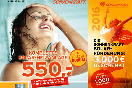 Sonnenkraft Advertising 2005 and 2015