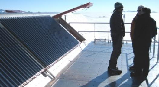 Antarctic Polar Station with a German Solar Thermal System