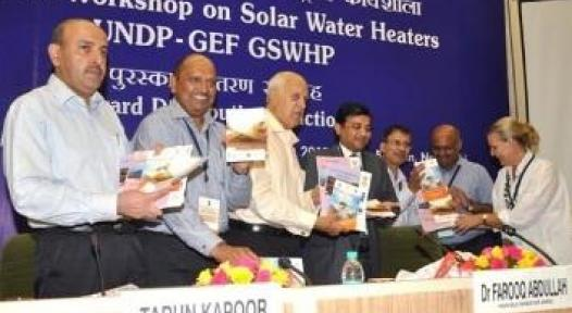 MNRE Congrats for Winners of UNDP GSWH Project