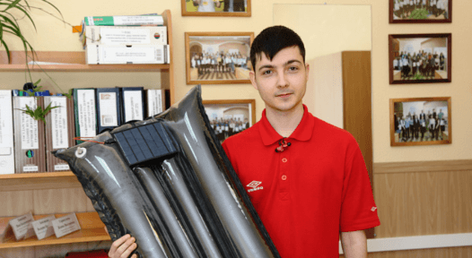 Russian scientist unveils polymer air collector