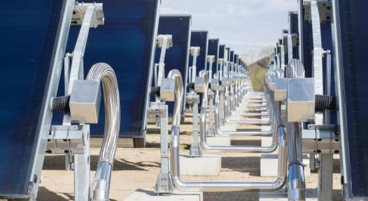 Highly efficient industrial solar heat showcase in southwest France
