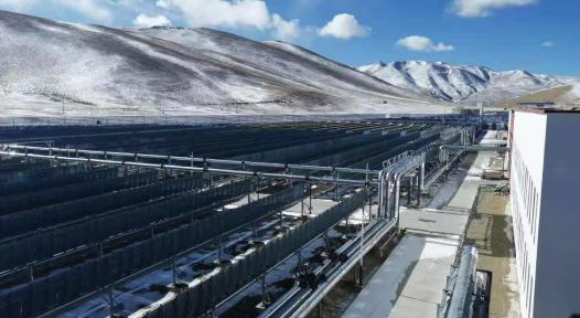 SDH system with parabolic troughs in Tibet