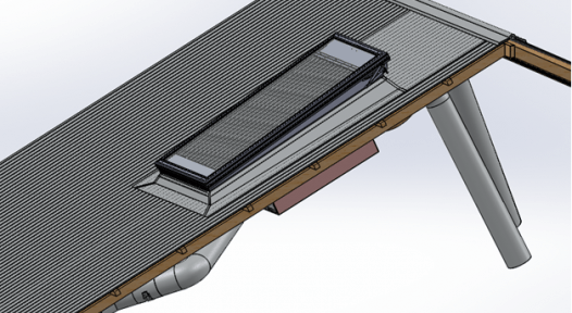 Solar air heating and cooling system with four new components
