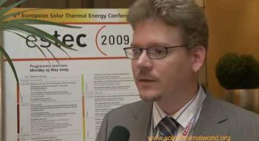 Embedded thumbnail for UweTrenker, ESTIF Sec General, at ESTEC 2009