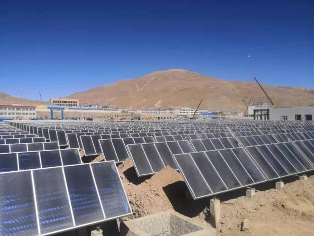 Saga in Tibet tests solar heating in public buildings