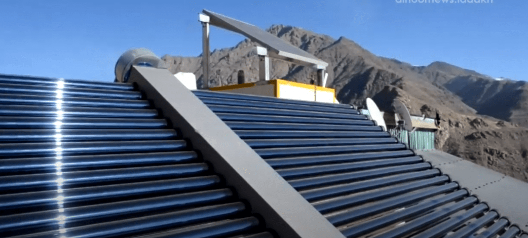 Solar systems dry apricots and supply space heating in northern India