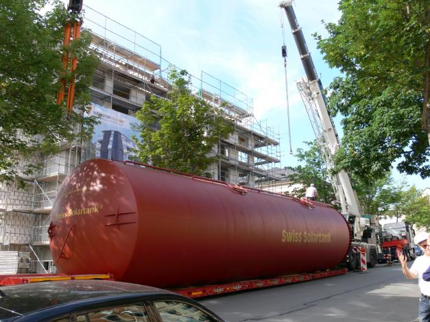 Germany's biggest solar-heated house nears completion